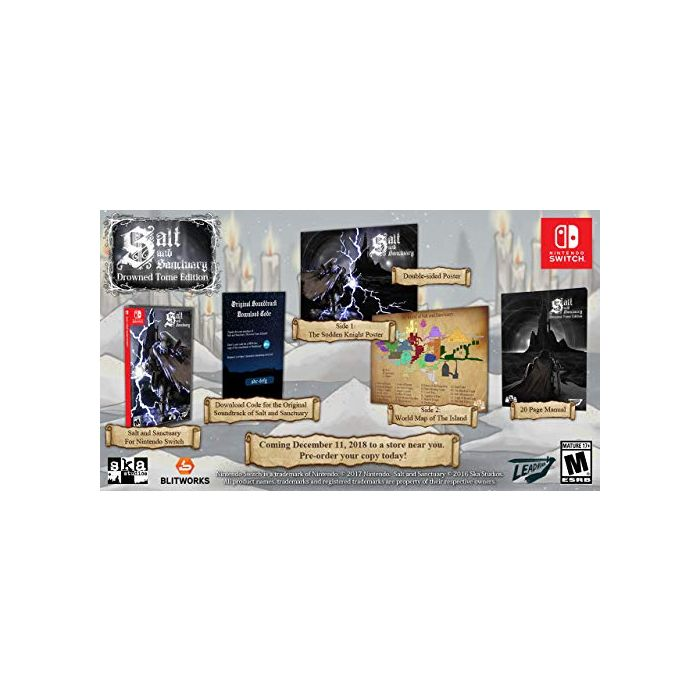 Salt and Sanctuary Drowned Tome Edition Nintendo Switch Game (US Import) (New)