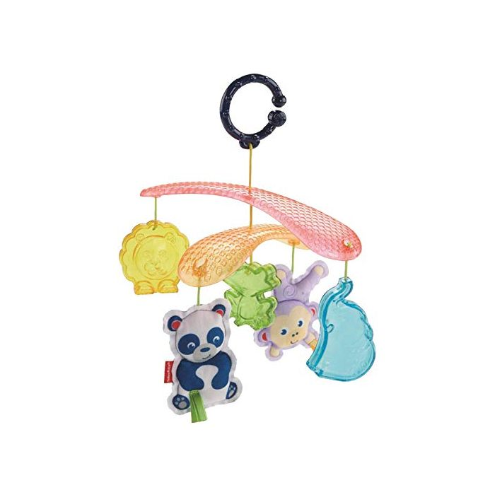 Fisher-Price On-the-Go Stroller Mobile, On the Go Baby Mobile with Sensory Toys with Different Colours and Textures, Suitable from Birth (New)