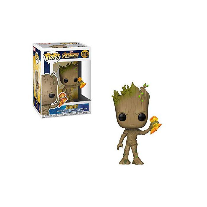 Funko 35773 POP Bobble: Marvel: Infinity War S2: Groot w/Stormbreaker AVENGERS, Multi, One Size (New)