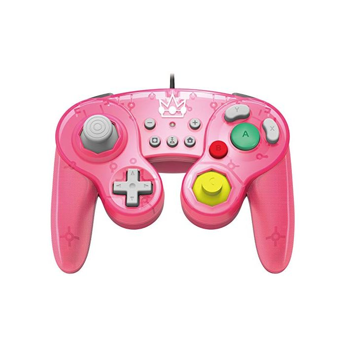 Official Nintendo Licensed Smash Bros Gamecube Style Controller (Peach Version) (Nintendo Switch) (New)