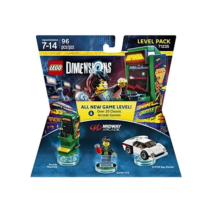 Lego Dimensions Midway Retro Gamer Level Pack (New)