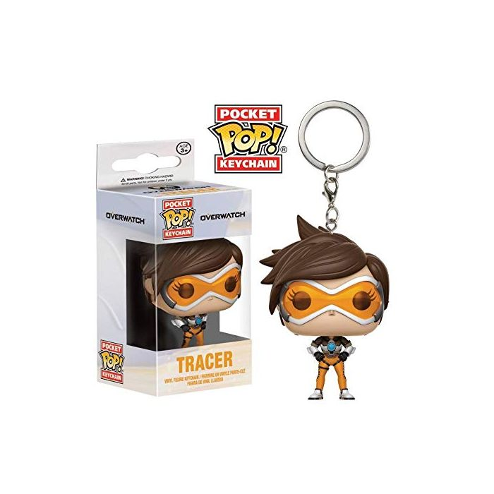 Funko 14312-PK-1SR Tracer Overwatch S2 Pop Keychain, Multi (New)