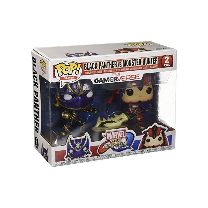 Funko 2780  Pop Games Marvel vs. Capcom Black Panther vs. Monster Hunter (New)