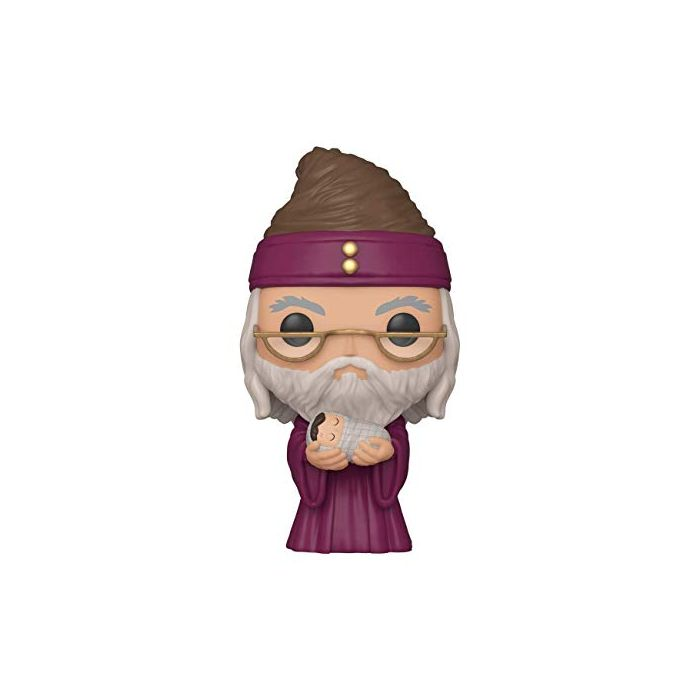 Funko 48067 POP Potter-Dumbledore w/Baby Harry Collectible Toy, Multicolour (New)
