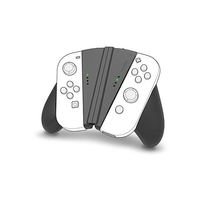 SPEEDLINK V-Grip 2-in-1 Handle for Nintendo Switch Joy-cons, Black (SL-330602-BK) (Nintendo Switch) (New)