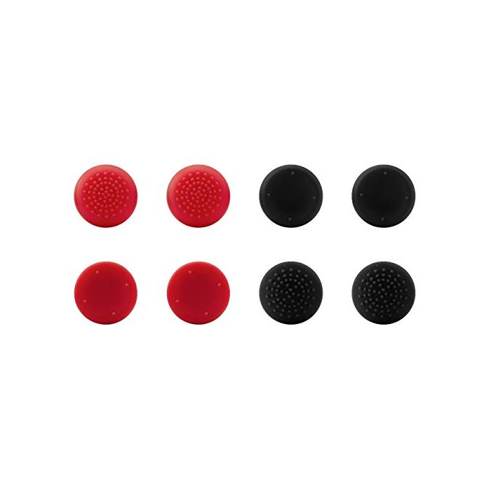 Speedlink STIX PRO Controller Cap Set 8 Analogue Stick Attachments for PS4 Original Controller Black/Red (New)