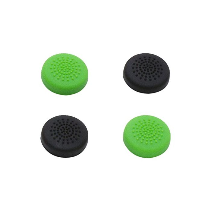 snakebyte Control Caps (4) 2x Green and 2x Black (Xbox One) (New)