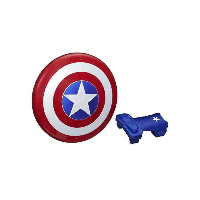 Marvel Avengers Captain America Blast Magnetic Shield and Gauntlet Toy, Shield Attaches to Gauntlet, Avengers Roleplay Toy, For Children Aged 5 and Up (New)