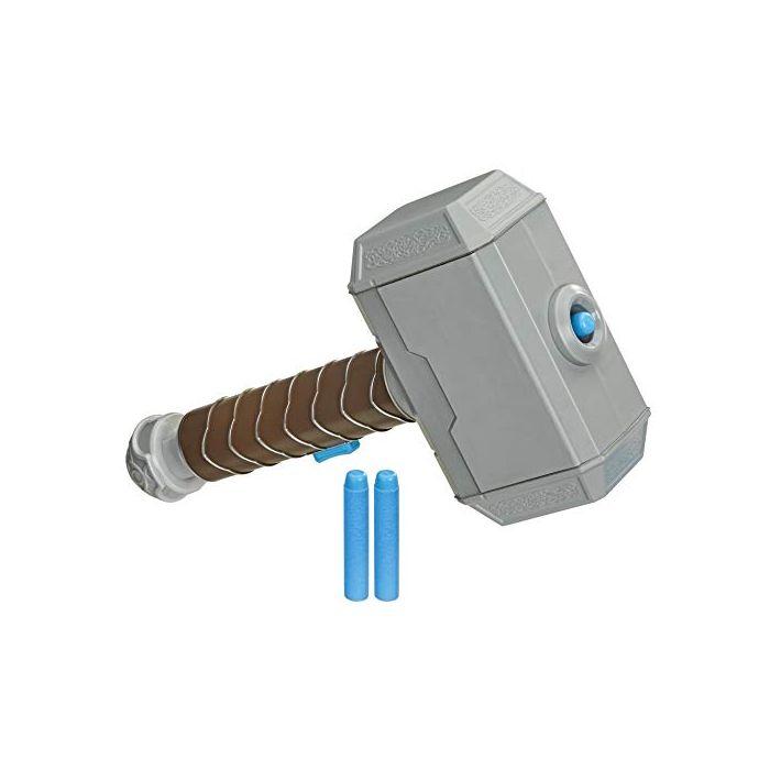 NERF Power Moves Marvel Avengers Thor Hammer Strike Hammer NERF Dart-Launching Toy for Kids Roleplay, Toys for Children Aged 5 and up (New)