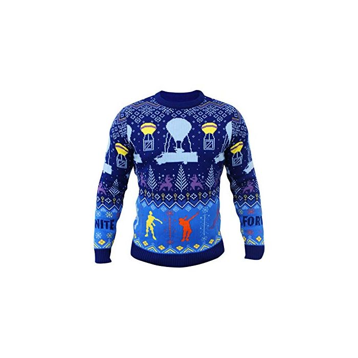 Epic Games Fortnite Official Christmas Xmas Jumper Sweater Kids Medium (New)