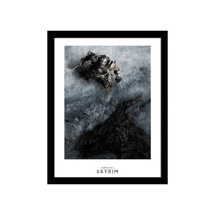 GB eye LTD, Skyrim, Shout, Framed Print 30x40 cm, Wood, Various, 52 x 44 x 3 cm (New)