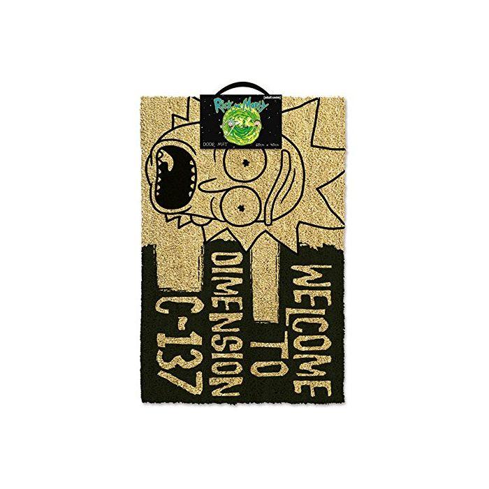 Rick & Morty GP85192 Welcome to Dimension C-137 Door Mat, Coir, Black, 60 x 40 x 1.5 cm (New)