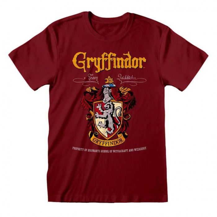 Harry Potter Gryffindor Crest Adults Red T-Shirt (New)