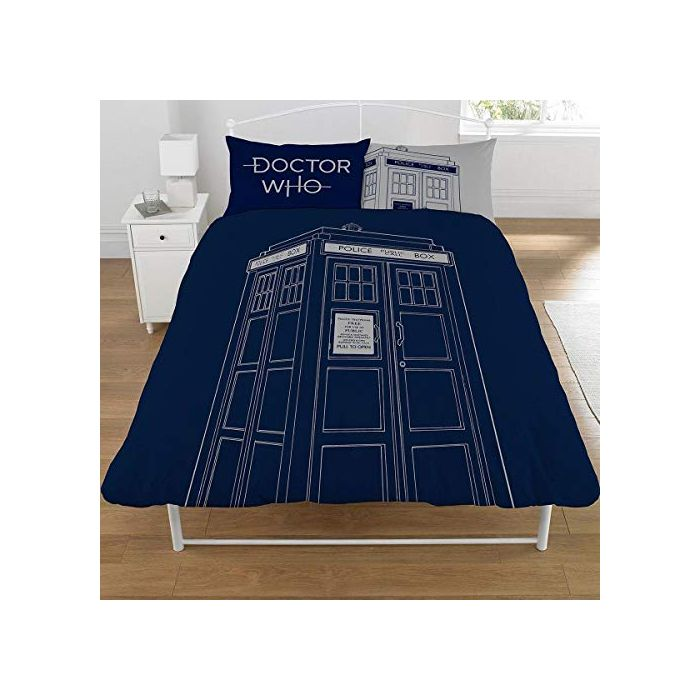 DOCTOR WHO Classic Tardis Double Duvet Cover Set (New)