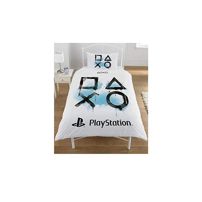 Sony Playstation Panel Single Polycotton Bed Duvet Quilt Cover Set (Single) (New)