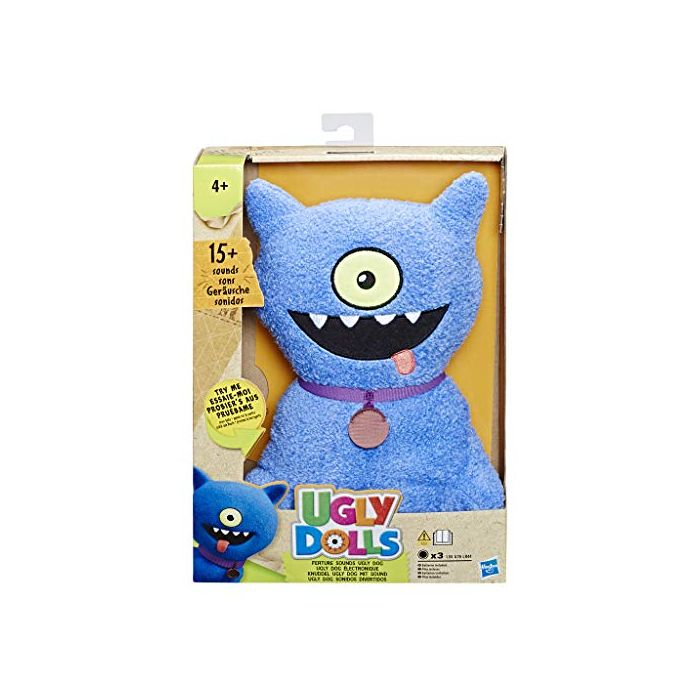 Hasbro UglyDolls 29cm Soft Toy - Feature Sounds Ugly Dog (New)
