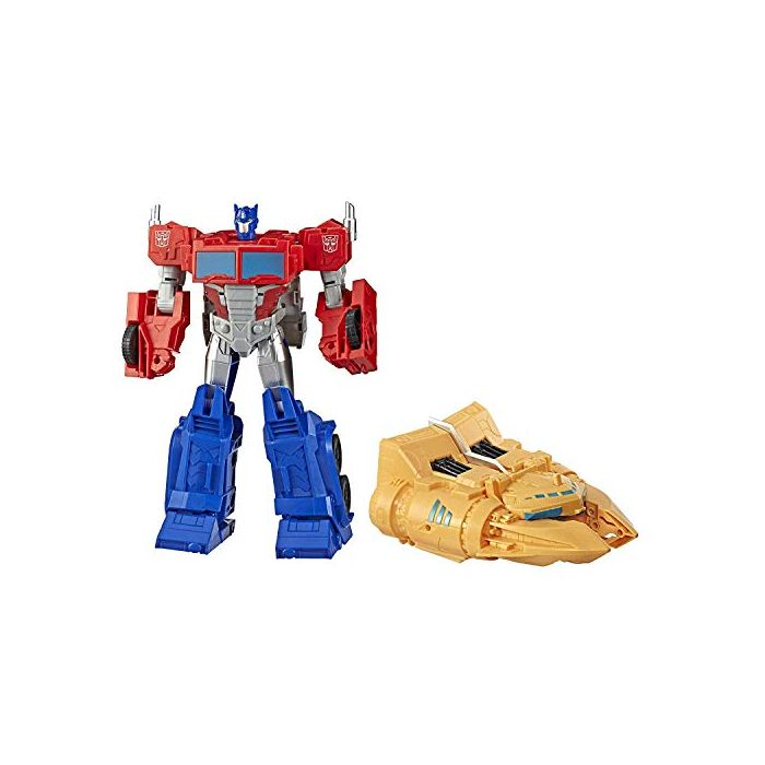 Transformers Toys Cyberverse Spark Armour Ark Power Optimus Prime Action Figure – Combines with Ark Power Vehicle to Power Up – For Kids Ages 6 and Up, 12-inch (New)