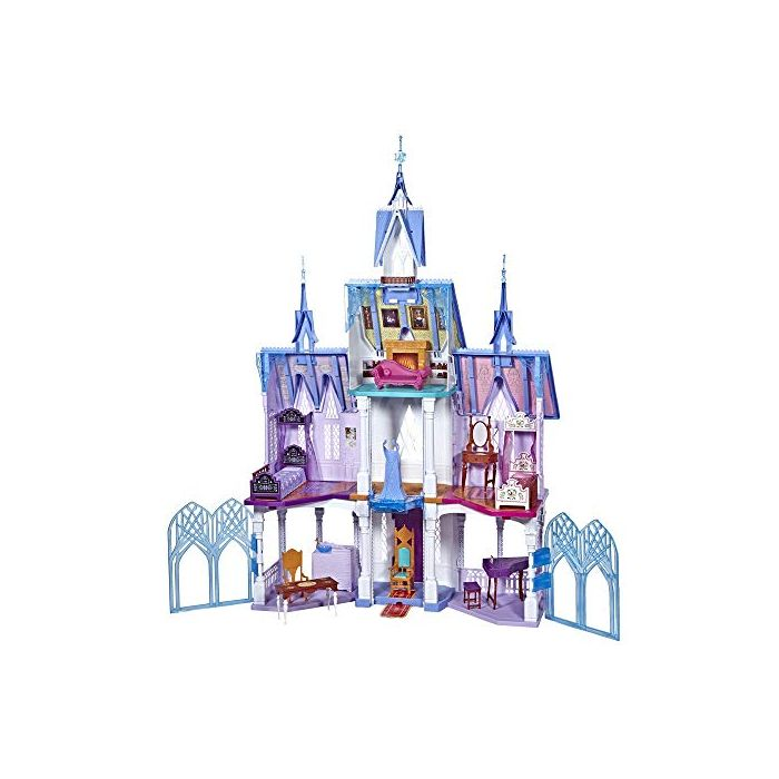 Disney FROZEN Ultimate Arendelle Castle Playset Inspired By The 2 Movie, 5 ft. Tall with Lights, Moving Balcony, and 7 Rooms with Accessories (New)