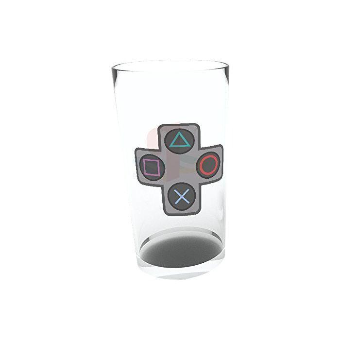 GB eye LTD, Playstation, Buttons, Pint Glass, Multi-Colour, 9 x 15 x 9 cm (New)