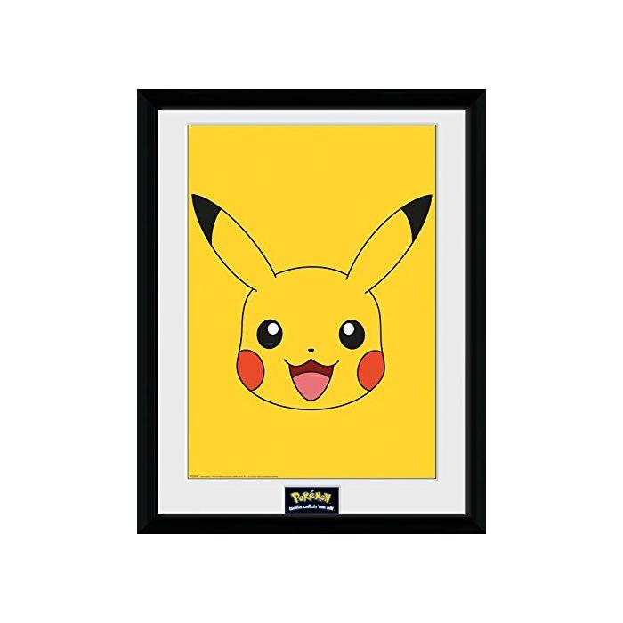 GB eye LTD, Pokemon, Pikachu, Framed Photograph, 40 x 30 cm, Wood, Various, 52x44x3 cm (New)