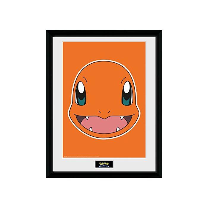 GB eye LTD, Pokemon, Charmander Face, Framed Print, 30 x 40cm, Wood, Multi-Colour, 52 x 44 x 3 cm (New)