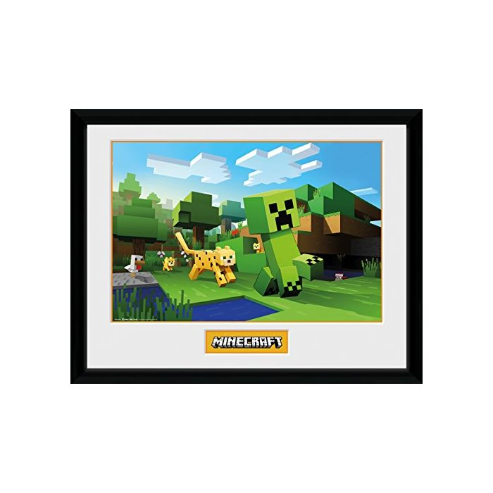 GB eye Minecraft, Ocelot Chase, Framed Print 30x40cm, Wood, Various, 52 x 44 x 3 cm (New)