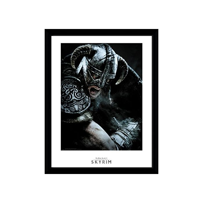 GB eye LTD, Skyrim, Attack, Framed Print 30x40 cm, Wood, Various, 52 x 44 x 3 cm (New)