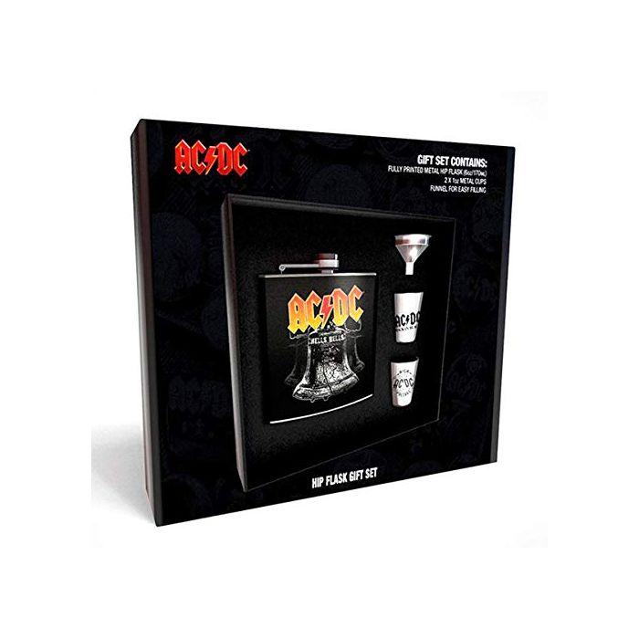 GB Eye Ltd AC/DC Hells Bells Hip Flask Set, Black (New)