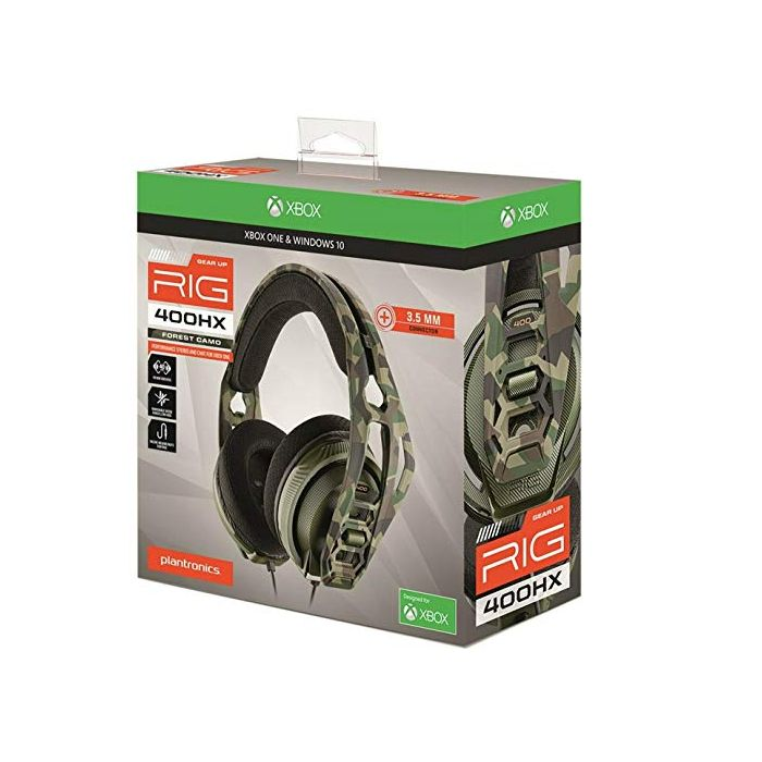 Plantronics RIG 400HX Forest Camo Xbox Gaming Headset (New)