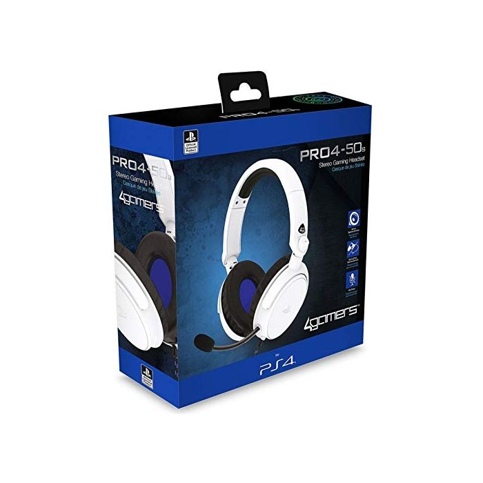 4Gamers Licensed PRO4-50s Stereo Gaming Headset White For PS4/PS5 (New)
