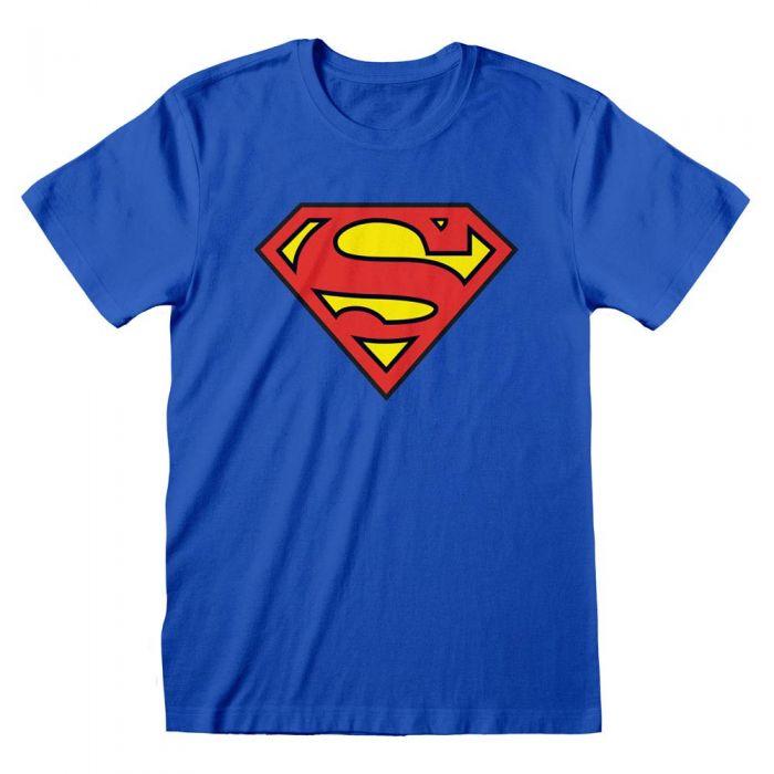 Superman DC Comics Logo Blue Adults T-Shirt (New)