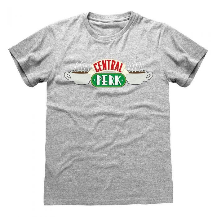 Friends - Official Central Perk Unisex Grey T-Shirt (Medium) (New)