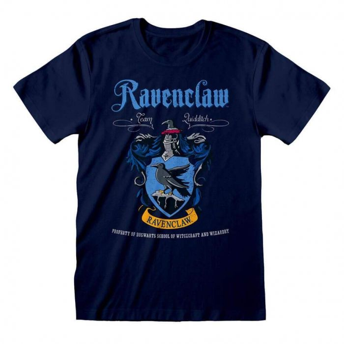 Harry Potter Ravenclaw Crest Navy Adults T-Shirt (Large) (New)
