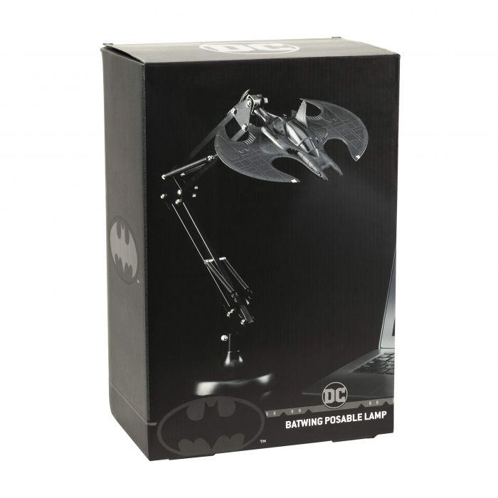 Paladone Batwing Posable Light BDP | Flexible Desk Lamp | Ideal for Office & Home | Materials, Black (New)
