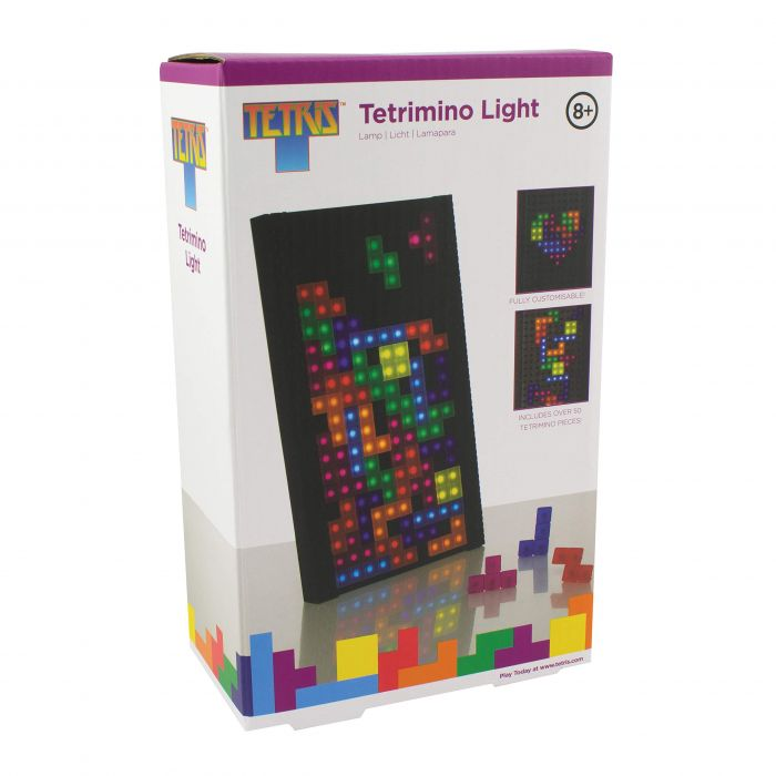 Paladone Collectable Tetrimino Lamp | Ideal for Night Light for Kids Bedrooms, Office & Home | Pop Culture Retro Gaming Merchandise, Multi-Coloured (New)