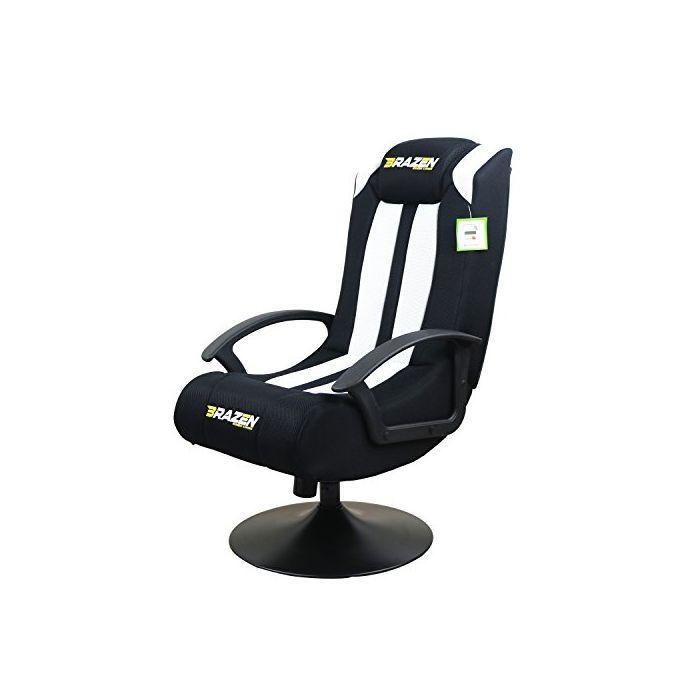 BraZen Stag 2.1 Bluetooth Surround Sound Gaming Chair White/Black (New)