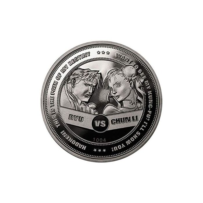 Street Figther Coin Chun Li vs Ryu Limited Edition Collectors Coin (Silver) (New)