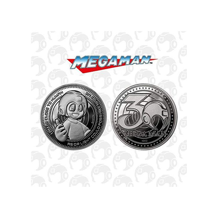 Megaman 30th Anniversary Limited Edition Collectors Coin (Silver) (New)