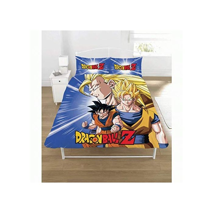 Dragon Ball Z New Official BATTLE Double Duvet Set Reversible Childrens Novelty Bedding Duvet Cover and Pillowcases (New)