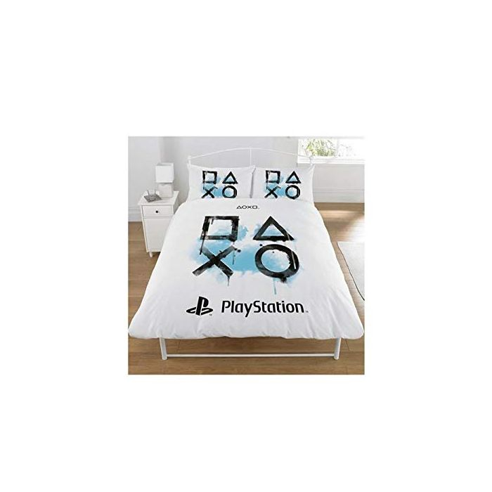 Sony Playstation Panel Polycotton Bed Duvet Quilt Cover Set (Double) (New)