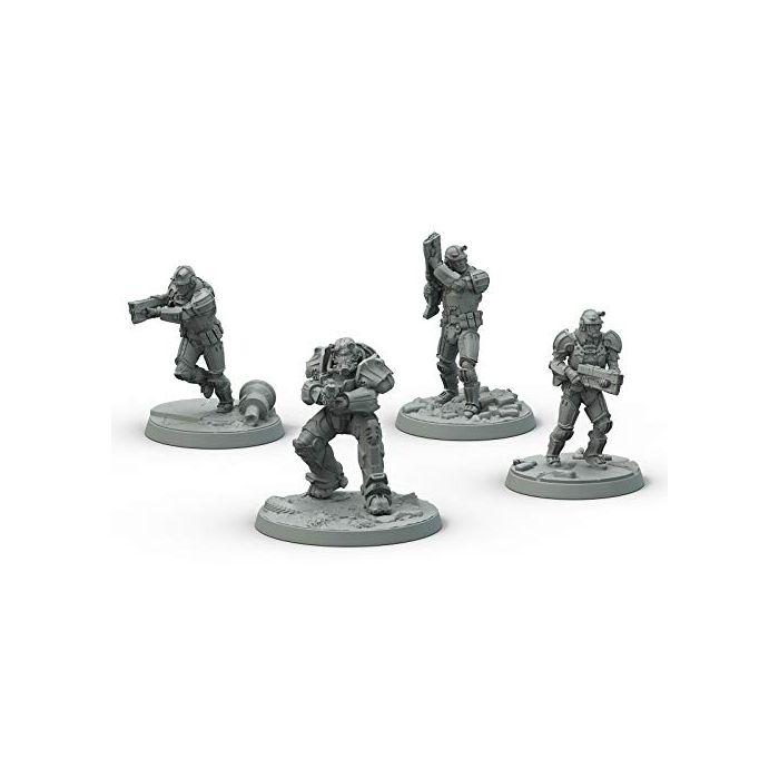 Fallout: Wasteland Warfare- Brotherhood of Steel: Frontline Knights Board Game (New)