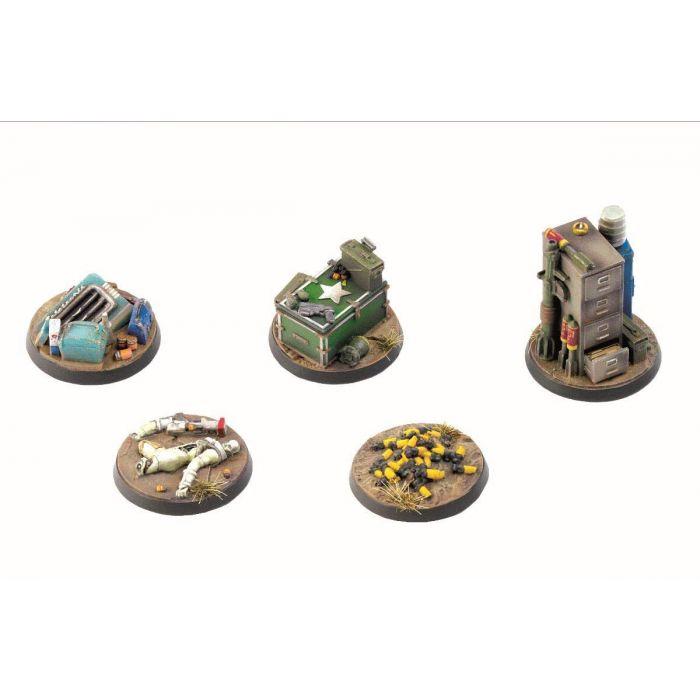 Fallout - Wasteland Warfare - Terrain Exp. Objective Markers 2 (New)
