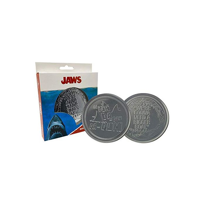 FaNaTtik Jaws Coaster 4-Pack We're Gonna Need A Bigger Boat Glasses Coasters (New)
