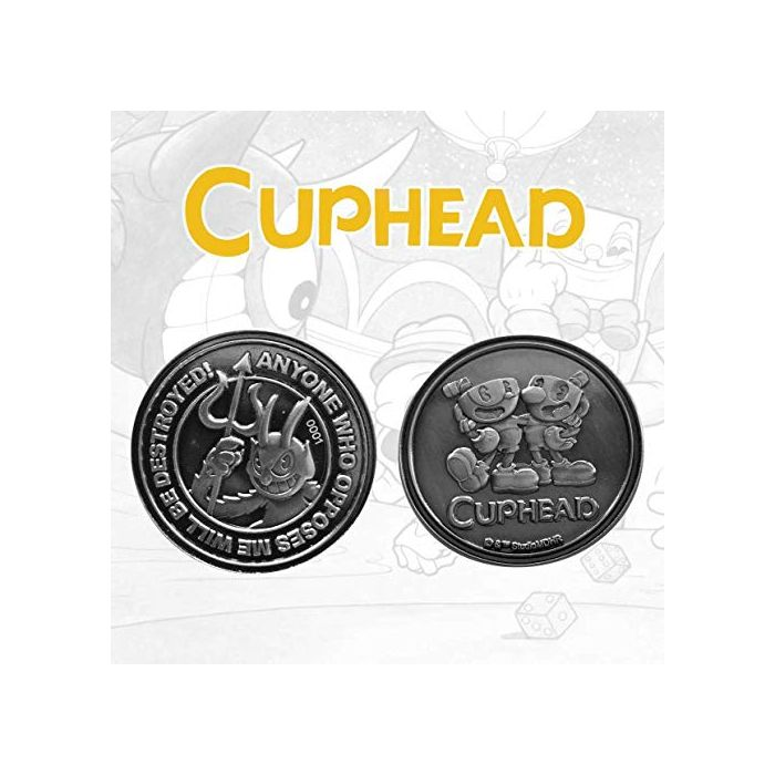 FaNaTtik Cuphead Collectable Coin The Devil, Cuphead & Mugman Limited Edition (New)