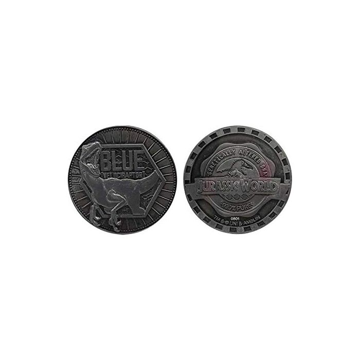 FaNaTtik Jurassic World Collectable Coin Blue Limited Edition Park Coins (New)