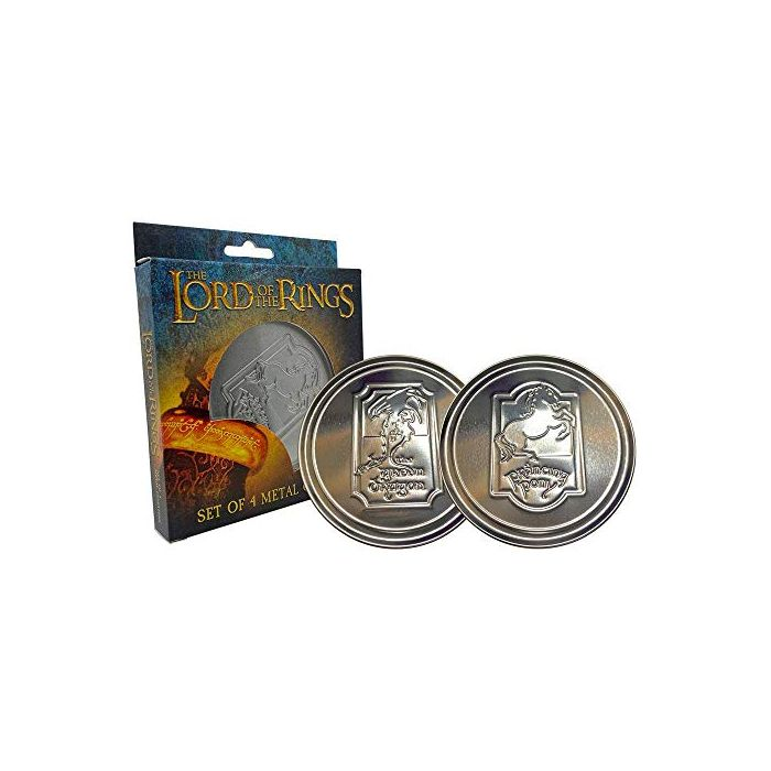 FaNaTtik The Lord of the Rings Coaster 4-Pack Green Dragon Glasses Coasters (New)