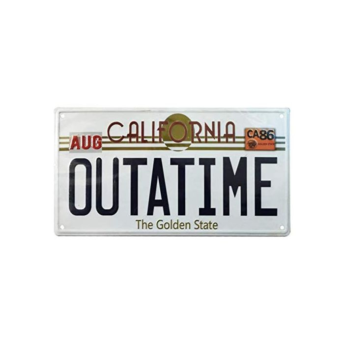 Back To The Future  Number Plate (New)