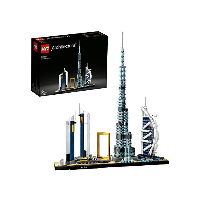 LEGO 21052 Architecture Dubai Model, Skyline Collection, Collectible Building Set (New)
