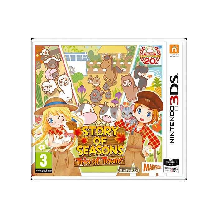 Story of Seasons 2: Trio of Towns (Nintendo 3DS) (Preowned)
