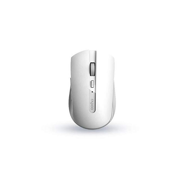Rapoo 7200M mice RF Wireless+Bluetooth Ambidextrous White (New)